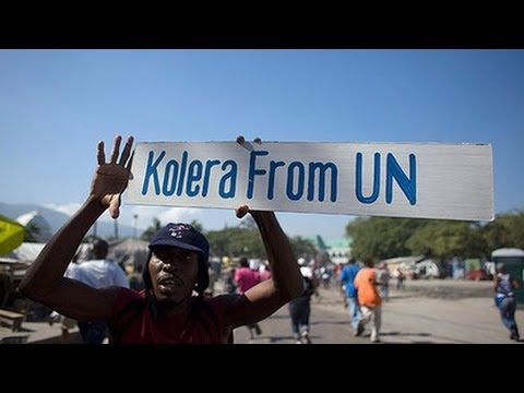 U.N. sued over Haiti's cholera epidemic that killed thousands of people