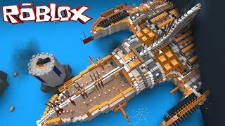 My Biggest Boat! Speed Build 6392 blocks[4 Hrs] - ROBLOX Build a Boat For Treasure