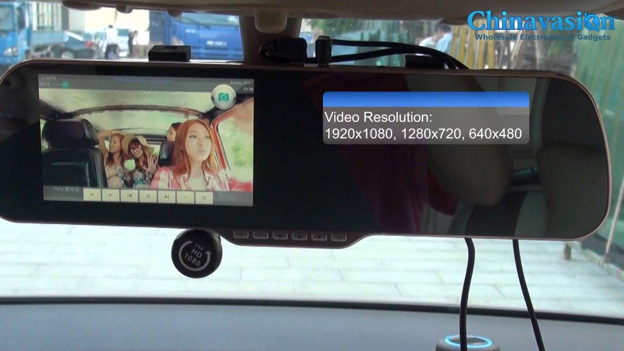 Зеркало Регистратор Навигатор Парктроник GPS FM Алиэкспресс - YouTube