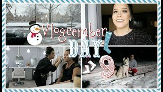FIRST SNOWFALL!❄️⛄ Vlogcember Day 9, 2017