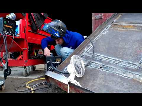 5 10lb SPOOLS OF WIRE THRU A HARBOR FREIGHT WELDER? MORE WELDING ON THE HICO BRUSH HOG