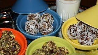 Recette Boulettes Aux Dattes & Noix - Date & Nut Balls Recipe - Recettes Maroc