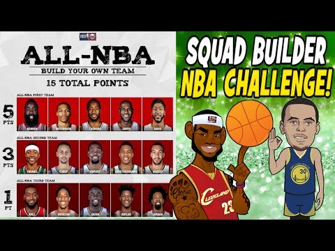 CREATE YOUR ALL-NBA TEAM CHALLENGE! ONLY 15 POINTS! CAN YOU GO 82-0? NBA SQUAD BUILDER! NBA 2K17
