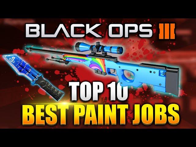 Black Ops 3 - TOP 10 PAINTSHOP CAMOS! Best Rare Paintjob Camo - (BO3 Rare Camo)
