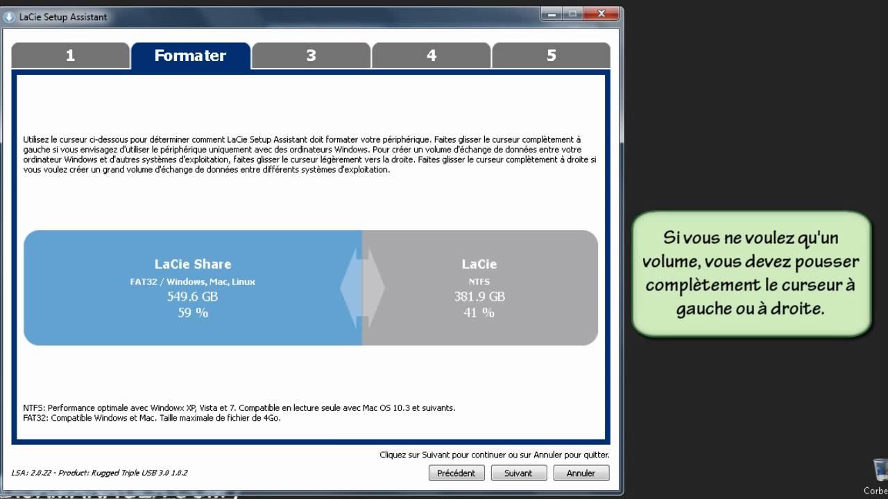 logiciel lacie setup assistant