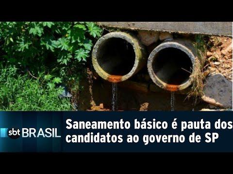 Saneamento básico é pauta dos candidatos ao governo de SP | SBT Brasil (14/09/18)