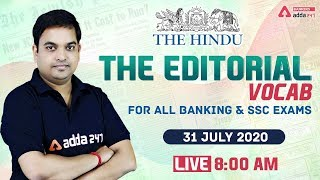 The Hindu Vocabulary | The Hindu Editorial Vocab for Banking & SSC Exams | 31 July 2020