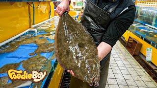 이렇게 큰 자연산 광어 회뜨기 부터 해산물모듬회까지! …