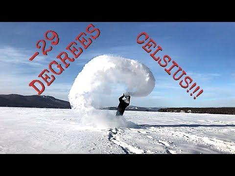 WORLD RECORD MPEMBA!!! (-29 DEGREES CELSIUS, QUEBEC, CANADA)