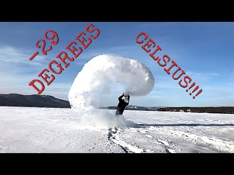 WORLD RECORD MPEMBA!!! (-29 DEGREES CELSIUS, QUEBEC, CANADA)