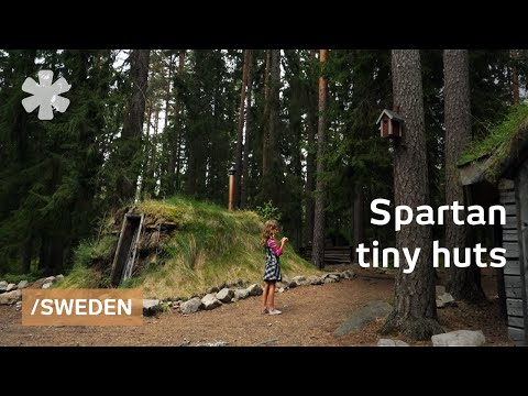Tiny huts to enjoy the basics in Swedish spartan rural lodge