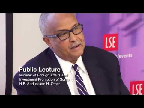 Somali Foreign Policy Priorities | H.E. Dr Abdusalam H. Omer #LSESOMALIA .