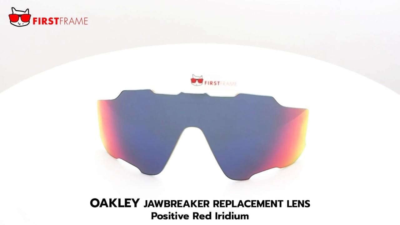 efd28d7f7bb OAKLEY JAWBREAKER REPLACEMENT LENS   Positive Red Iridium - YouTube