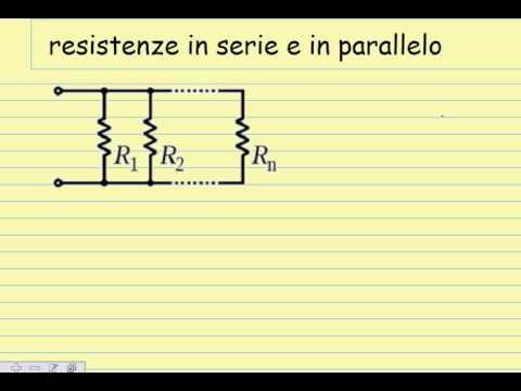 Resistenze in Serie e parallelo