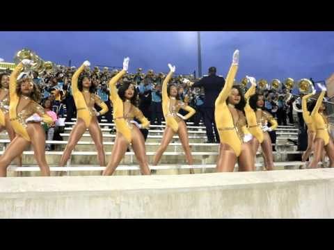 "Southern University Dancing Dolls vs ASU Stingettes ""FULL GAME HIGHLIGHTS"" 2015"