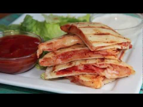 Quick & Easy Pepperoni Pizza Quesadilla Recipe