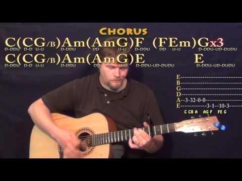 Nobody Love (Tori Kelly) Guitar Lesson Chord Chart - Capo 4th