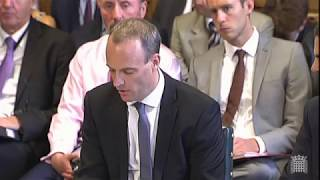 Dominic Raab & Olly Robbins face the European Scrutiny Committee