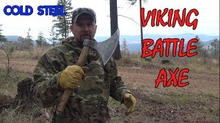 Camping with a battle axe. Cold Steel Viking Battle Axe review and testing