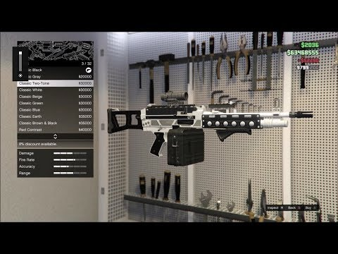 GTA Online Gunrunning - Mobile Operations Center (Mk II Weapons Upgrades and Customizations)