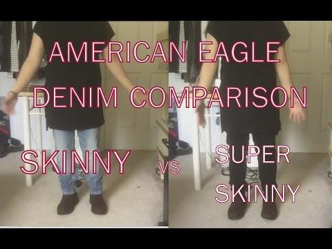 American Eagle Men's Denim Comparison: Skinny Vs Super Skinny