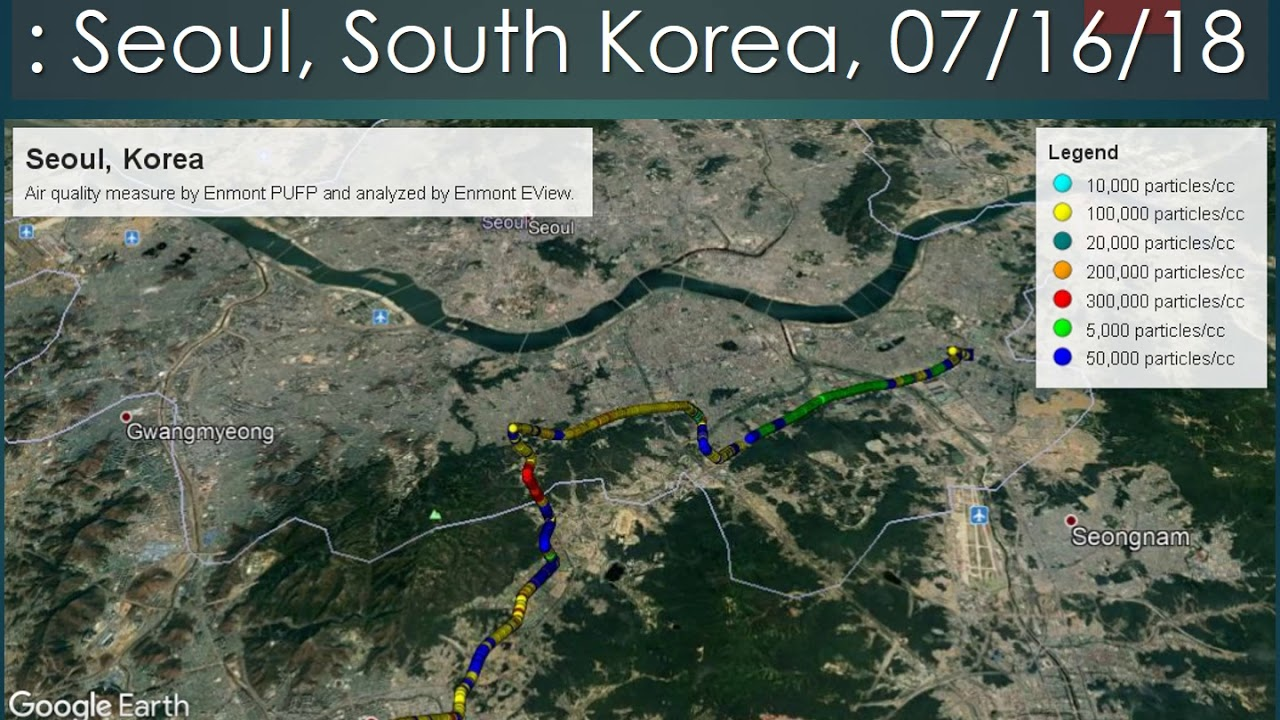 Nano Air Quality of Silicon Valley, Cincinnati, and Seoul Korea