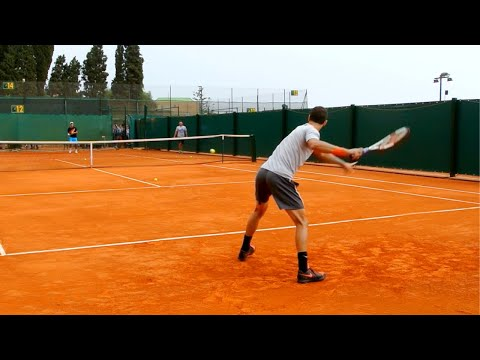 Grigor Dimitrov Training Court Level View Monte Carlo - ATP Tennis Practice On Clay