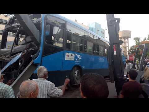 حادثة اتوبيس هيئة النقل العام بكورنيش امبابة