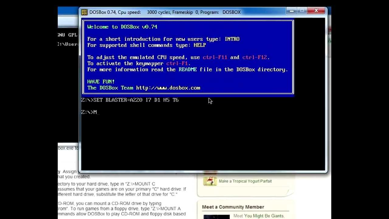 DOSBOX Tutorial   HOW TO SET UP CIVILIZATION USING DOSBOX   DOSBox 0 7 4