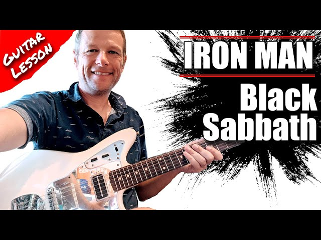How to play Iron Man by Black Sabbath on guitar