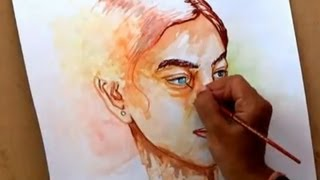 Simple Watercolor Portrait Painting | How to Paint a Portrait in Watercolors
