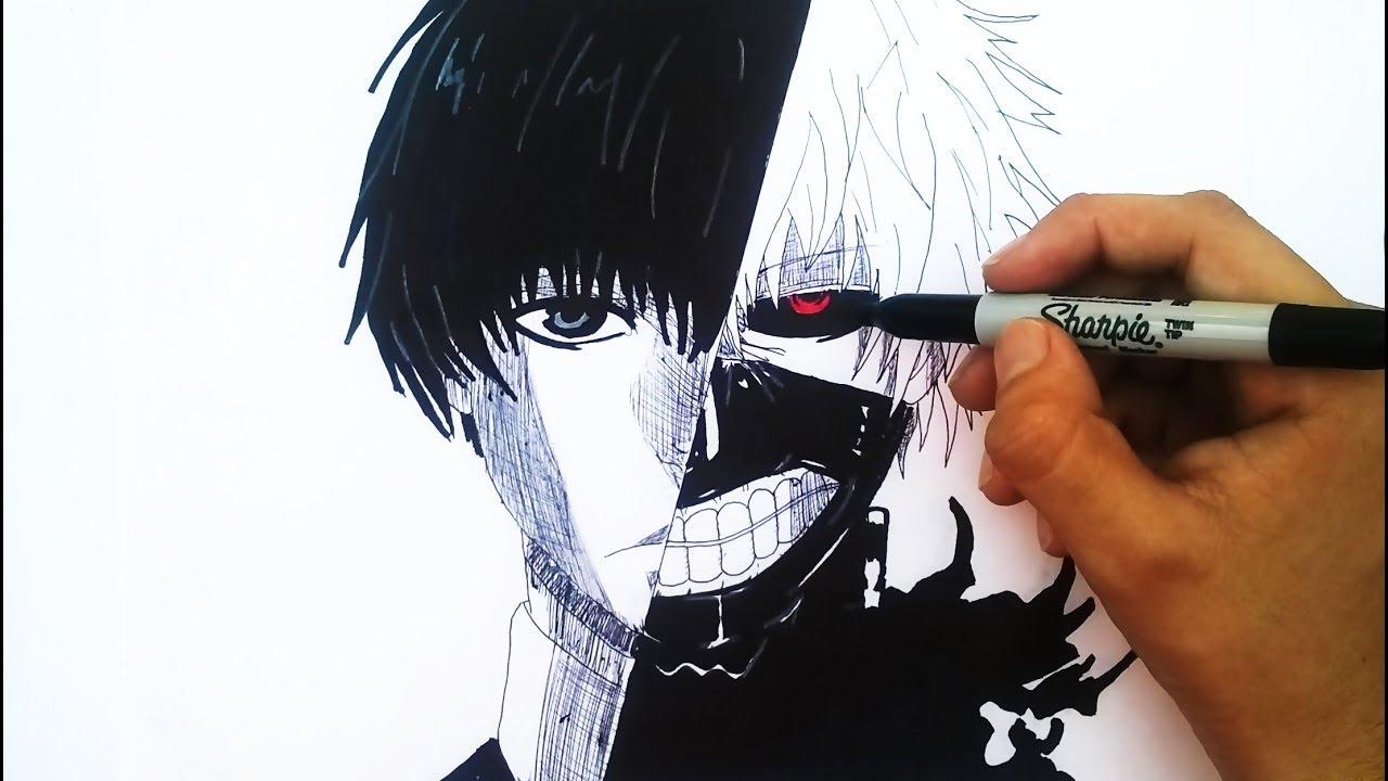 Dibujando A Kaneki Ken / Dibujo De Tokyo Ghoul Manga