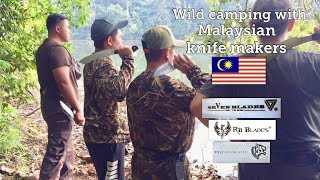 Wild camping with Malaysian knife makers.