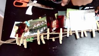 Diy: Clothespin Picture Hanger And Update!