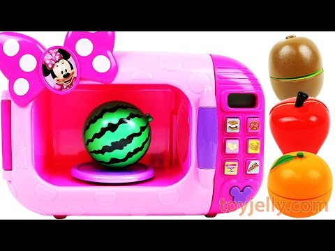 Thumbnail: Learn Colors with Cutting Fruits and Vegetables Minnie Mouse Microwave Playset for Kids Compilation