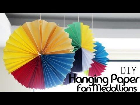 DIY : Hanging Paper Fan Medallions