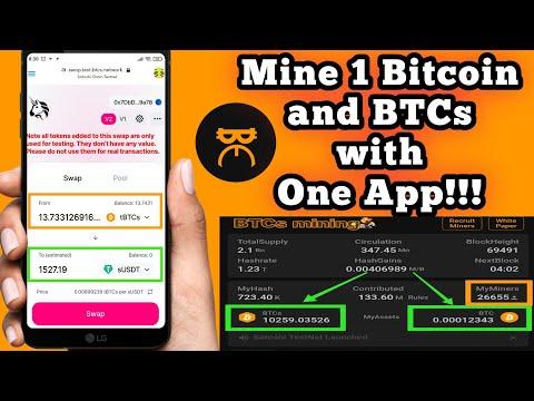 Mine BTCs And BTC With The BITCOIN SATOSHI APP For FREE