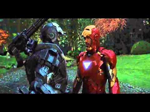 iron man 2 esena war machine y iron man vs hammer drones ...