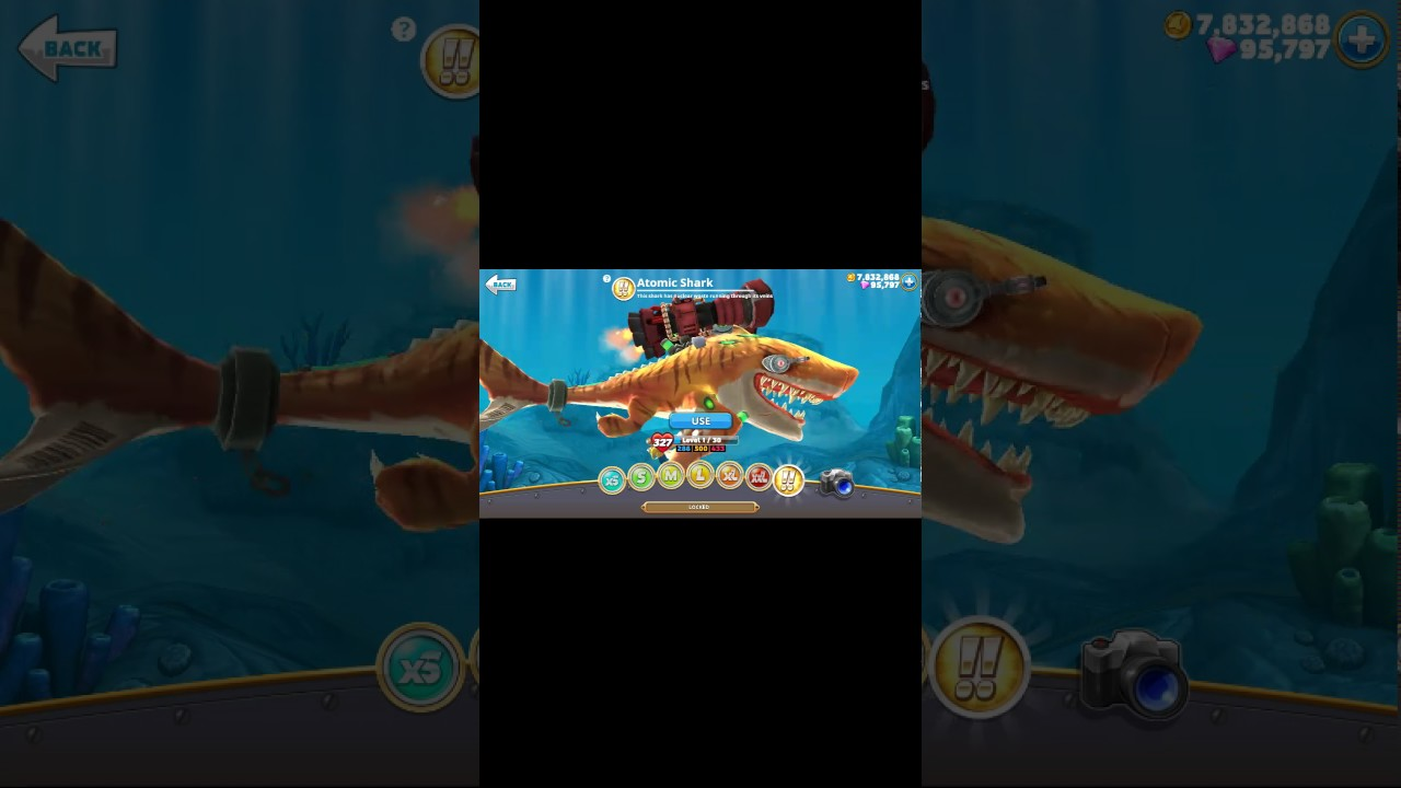 How to get Unlimited Gold & Gems in Hungry Shark World - All sharks
