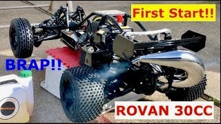 First Start of my Rovan 30CC 1/5 gas Buggy (its first BRAP!!!) (part 3)