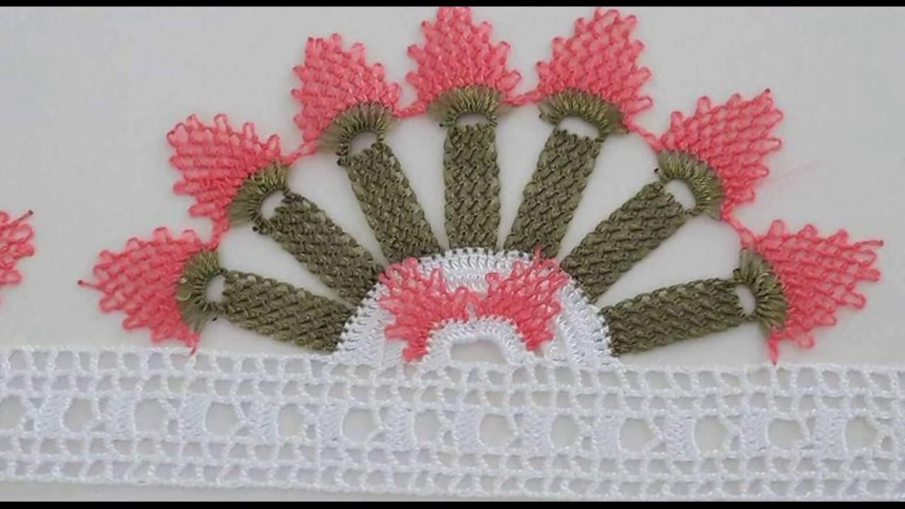 İğne oyası havlu kenarı örneği - Çeğizlik havlu kenarı modelleri ( HD ) 1 #1