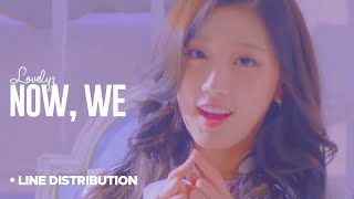 LOVELYZ - Now, We (지금, 우리)  : Line Distribution (Color Coded)