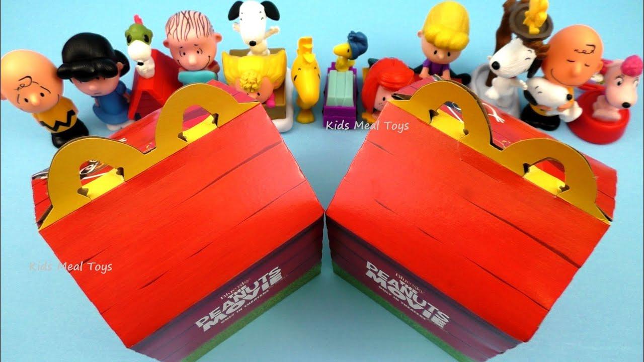 Préférence 2015 McDONALD'S THE PEANUTS MOVIE HAPPY MEAL BOX #2 OF 3 SET OF 12  OZ95