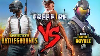 Battlegrounds [PUBG] VS. Free Fire VS. Fortnite [Battle Royale] | BATALHA DE RAP