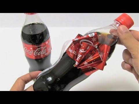 CocaCola Christmas Ribbon Bottle