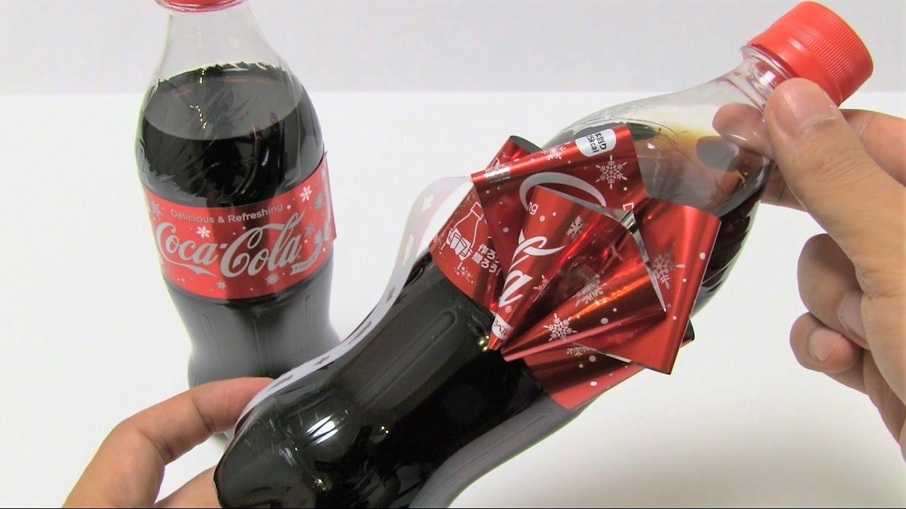 Coca-Cola Christmas Ribbon Bottle