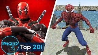 Топ-20 величайших видеоигр Marvel за всю историю