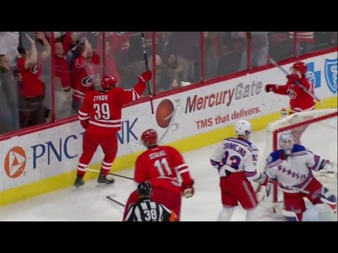 Zykov scores his first NHL goal in his first NHL game