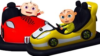 five little babies playing toy cars   zool babies fun songs   five little babies collection