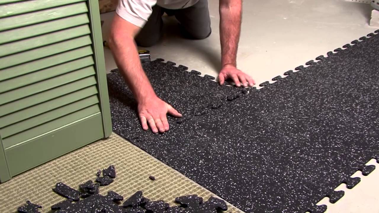 Ez flex interlocking recycled rubber floor tiles youtube dailygadgetfo Choice Image